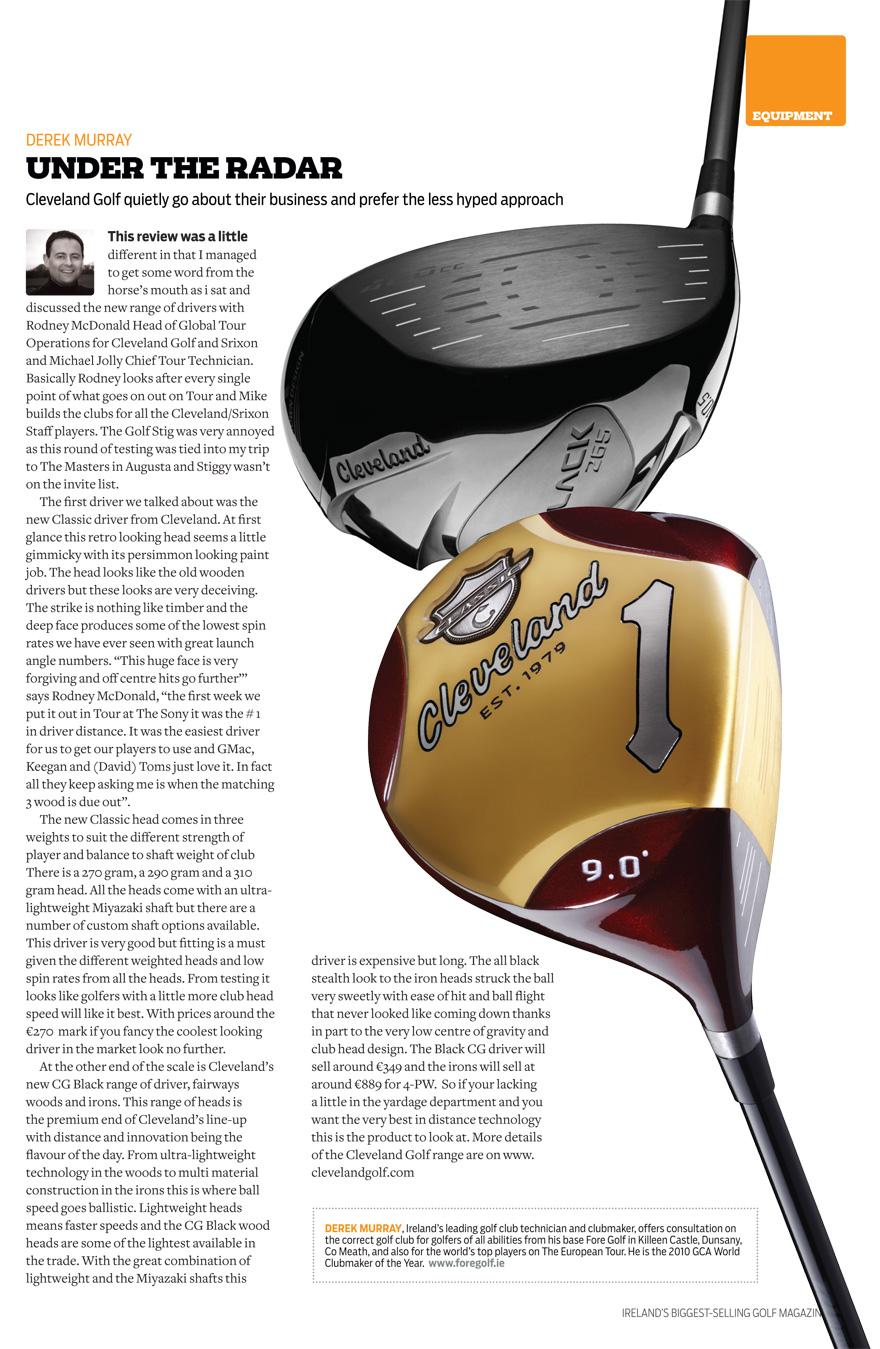 cleveland golf driver black 265