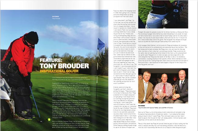 Irish Clubhouse Magazine: Tony Brouder