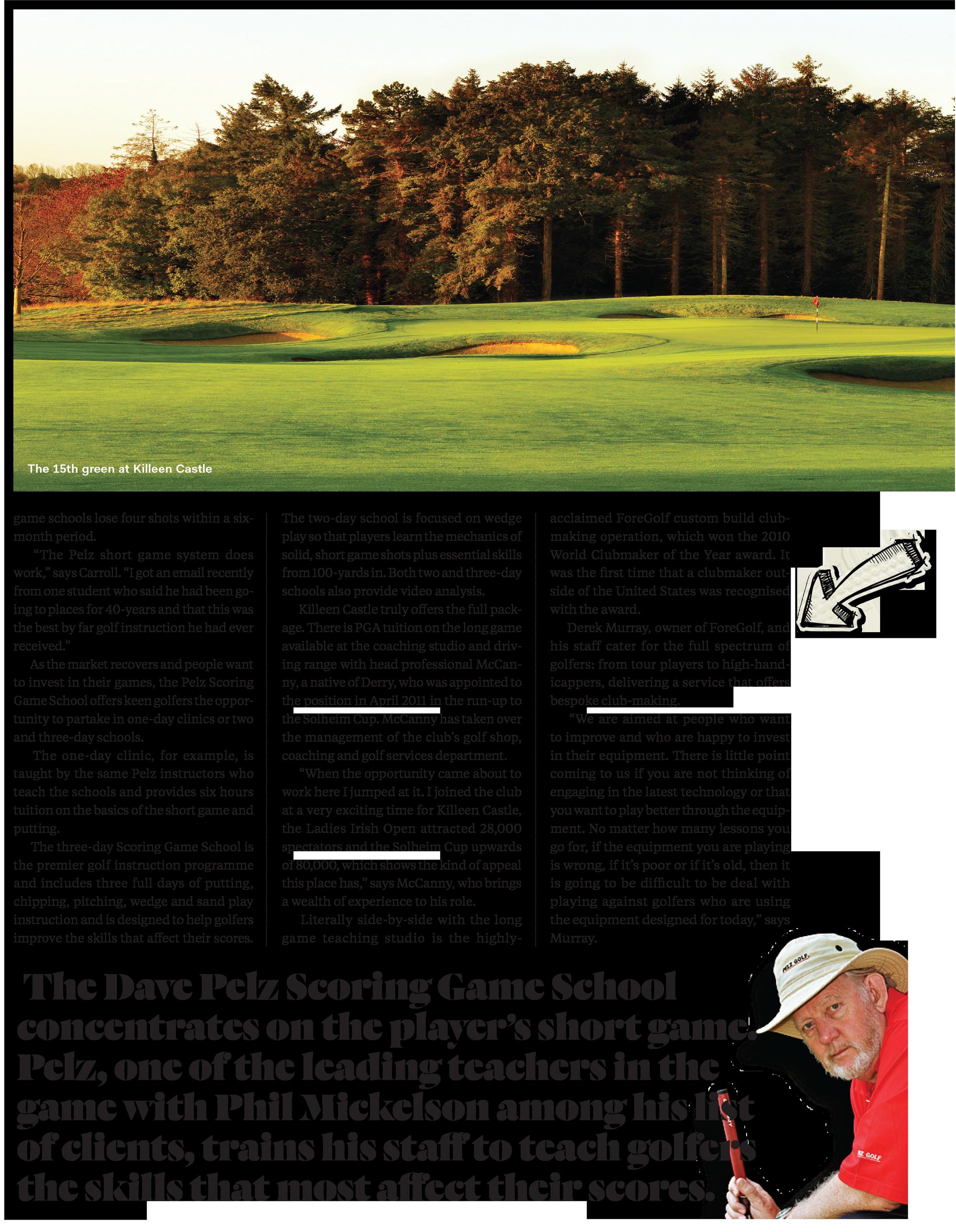 Golf Digest Ireland July Killeen Castle Pelz ForeGolf 1