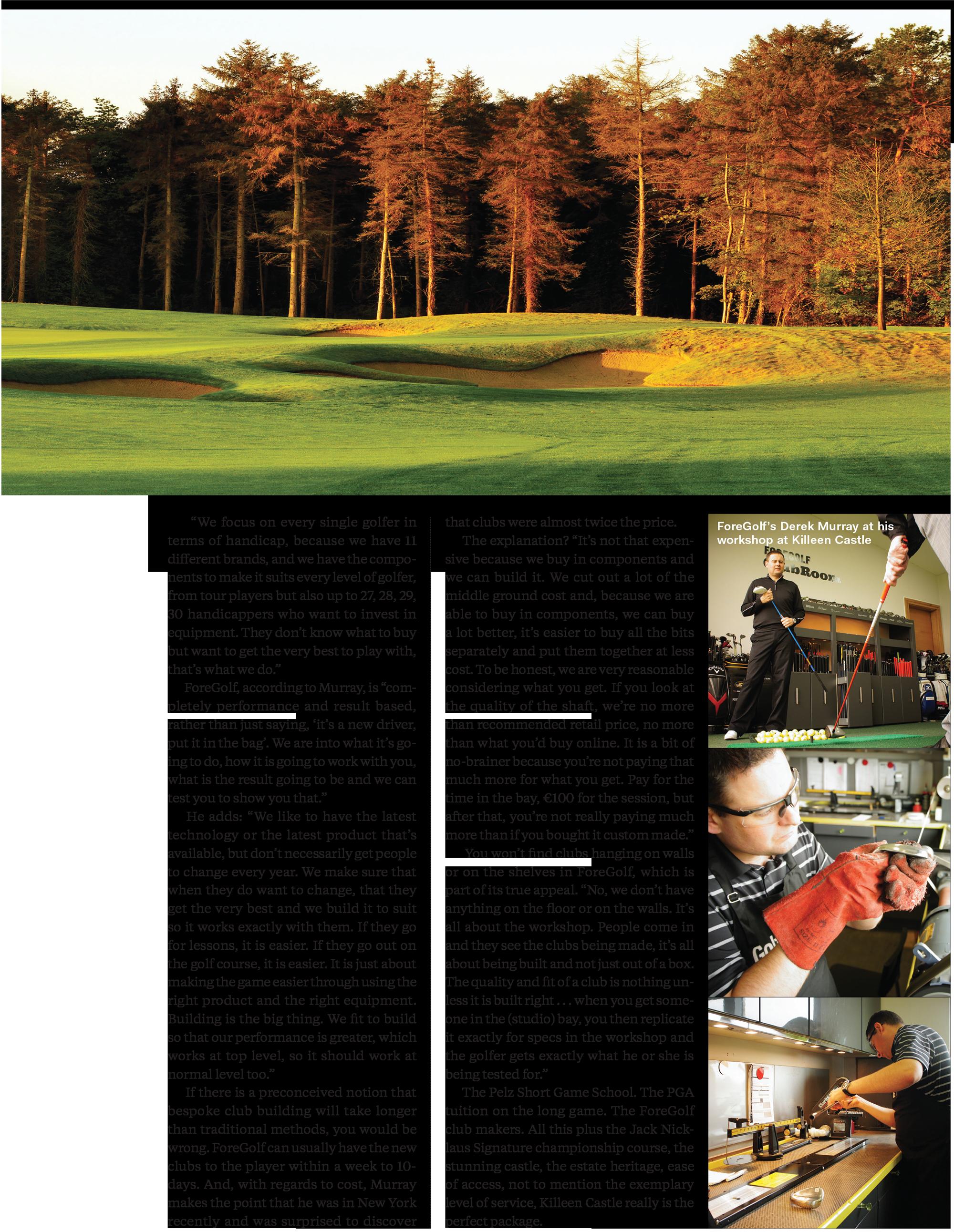 Golf Digest Ireland July Killeen Castle Pelz ForeGolf 2