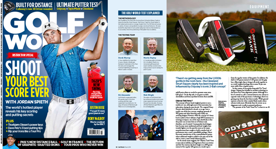 Golf World Magazine: The Test Panel Review Mallet Putters from TaylorMade, Odyssey and Cleveland